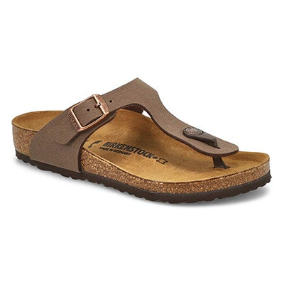 Birkenstock Girls' GIZEH mocha thong cork sandals - Narrow