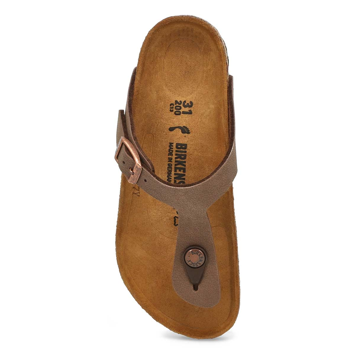Girls Gizeh mocha thong cork sandal