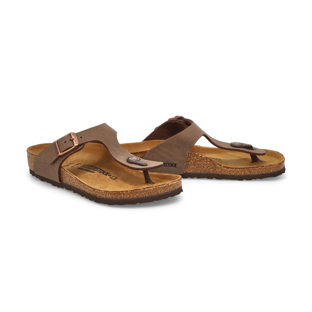 Grls Gizeh BF mocha thong cork sandal-N