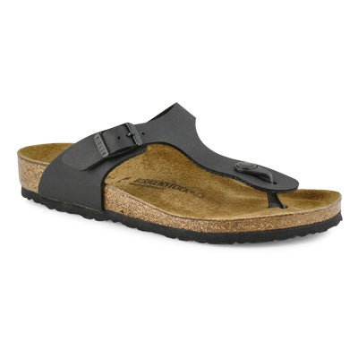 Birkenstock Girls' GIZEH black thong cork narrow sandals