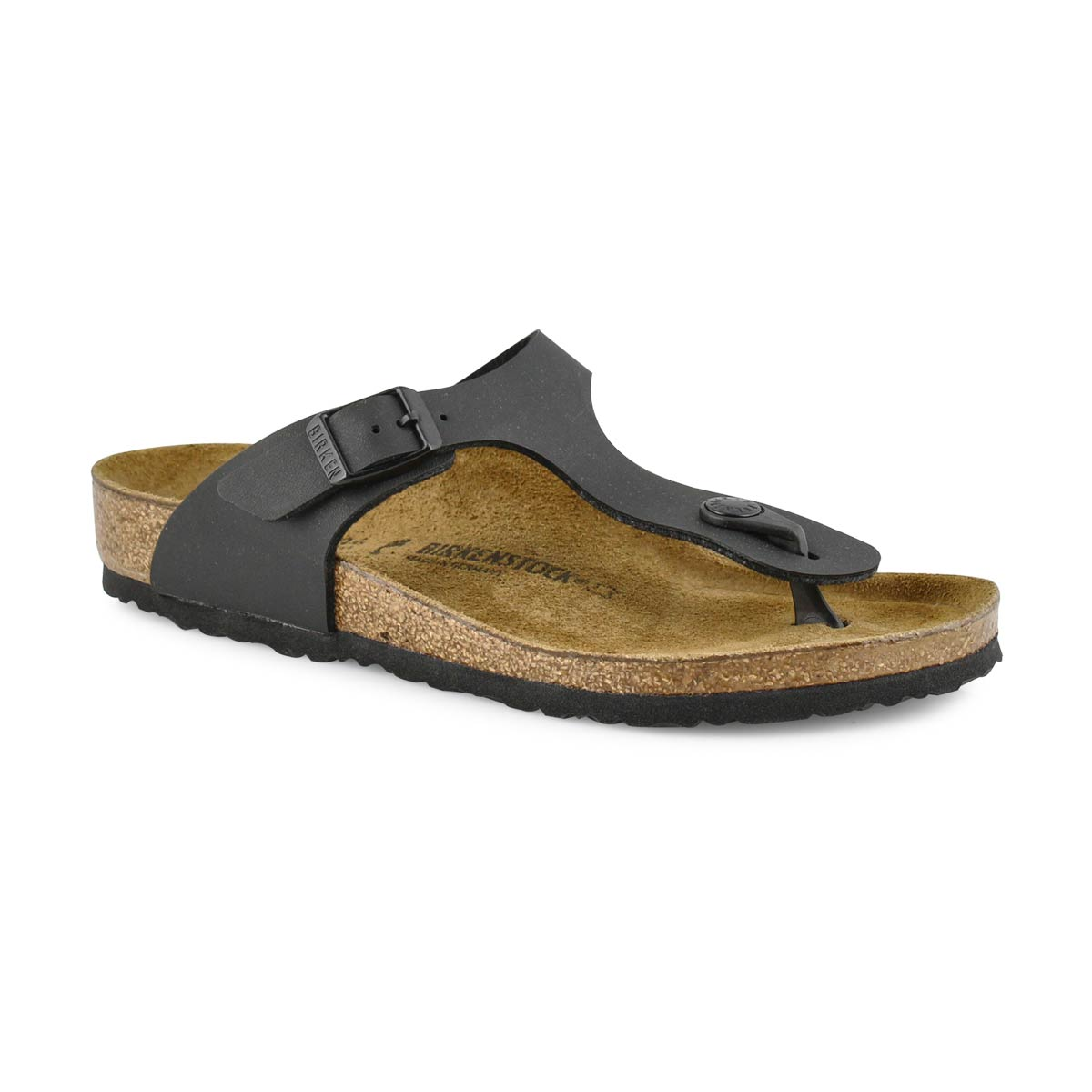 Girls' GIZEH black thong cork narrow sandals