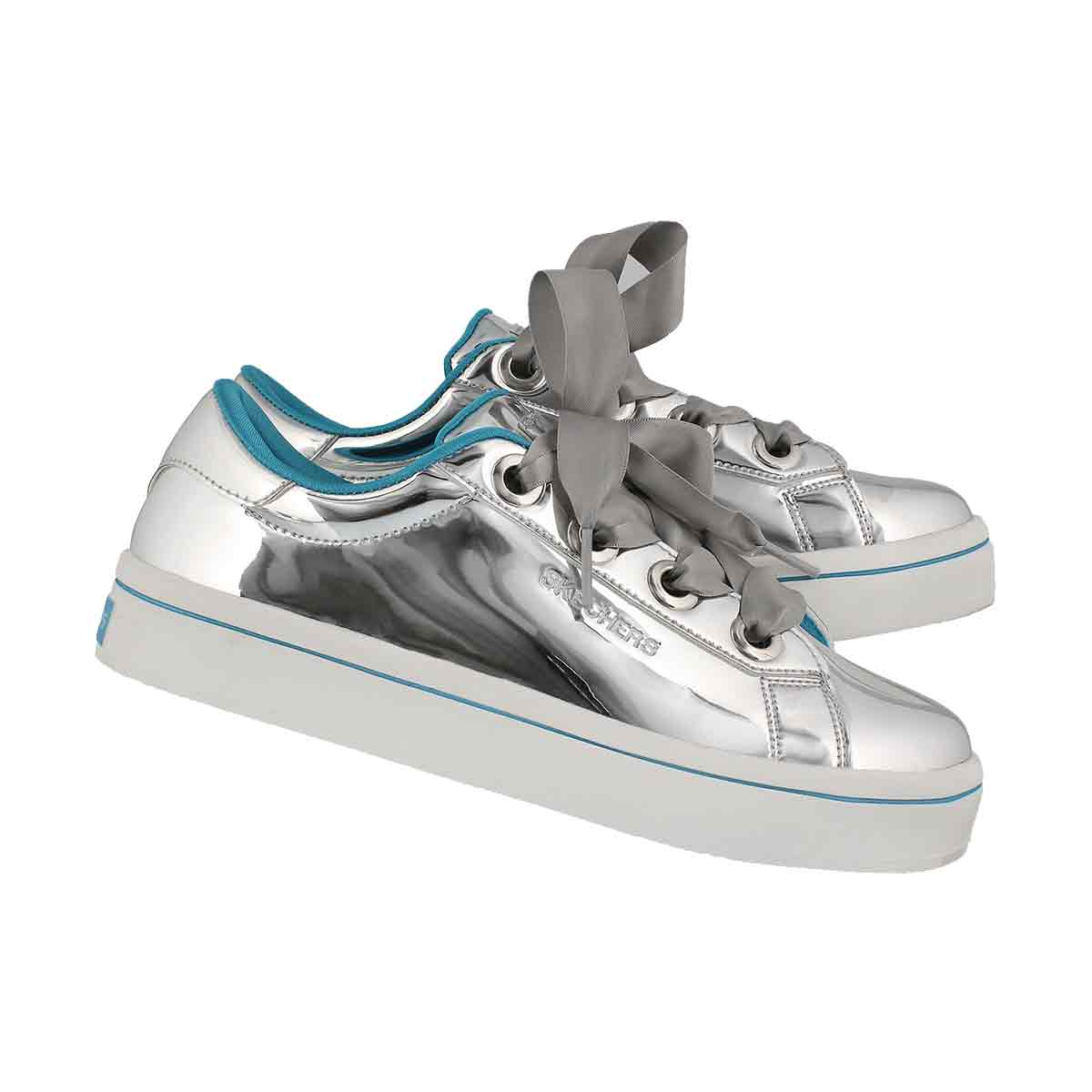 Grls Hi-Lite Liquid Bling silver sneaker