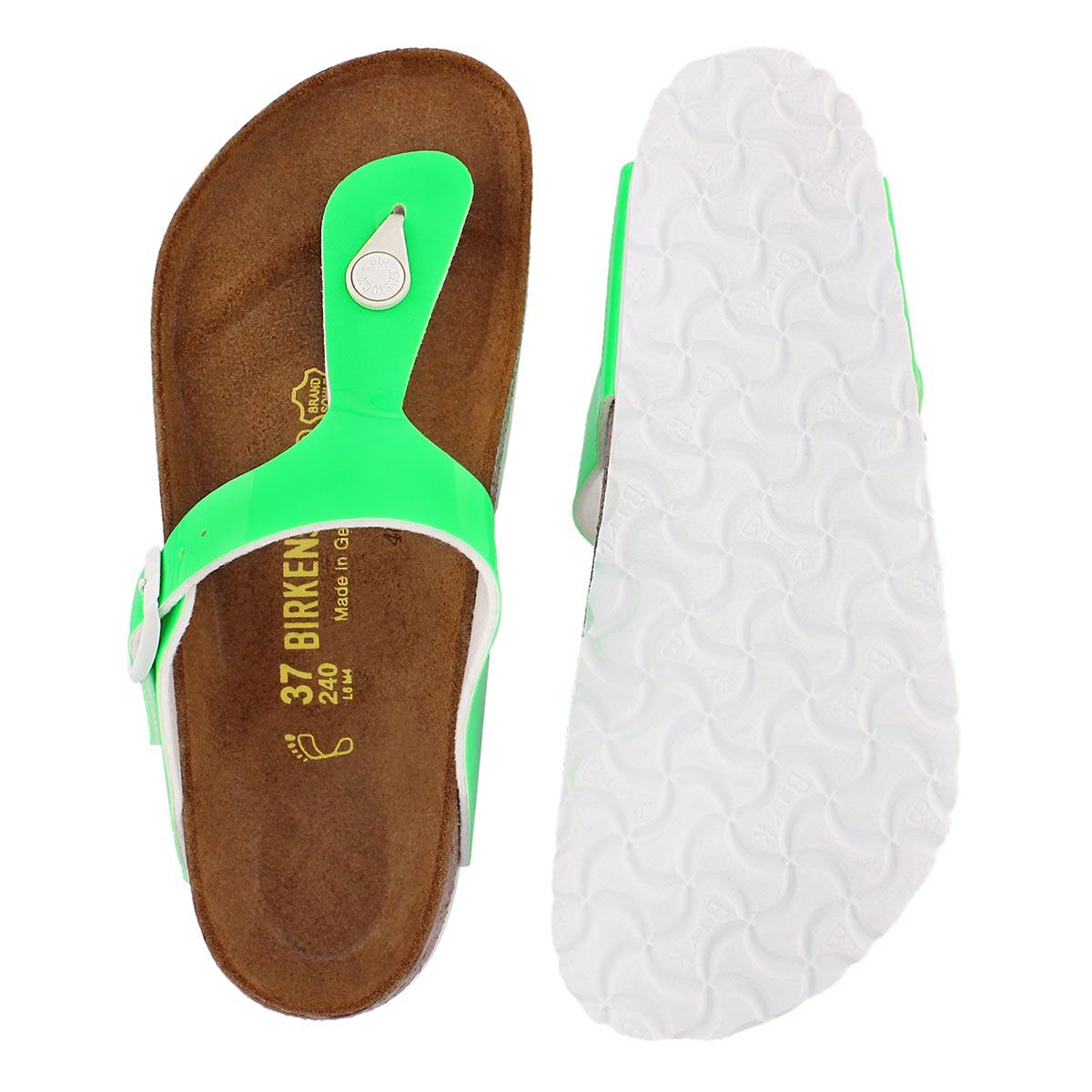 Sandale tong GIZEH, vert fluo, fem