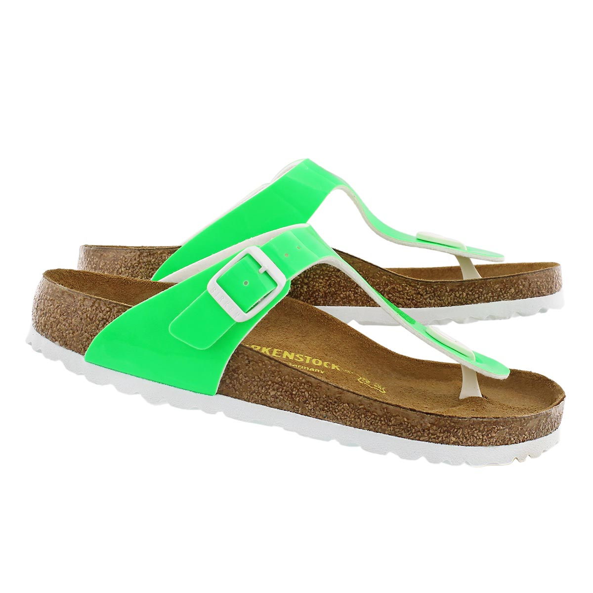 Lds Gizeh neon green thong sandal