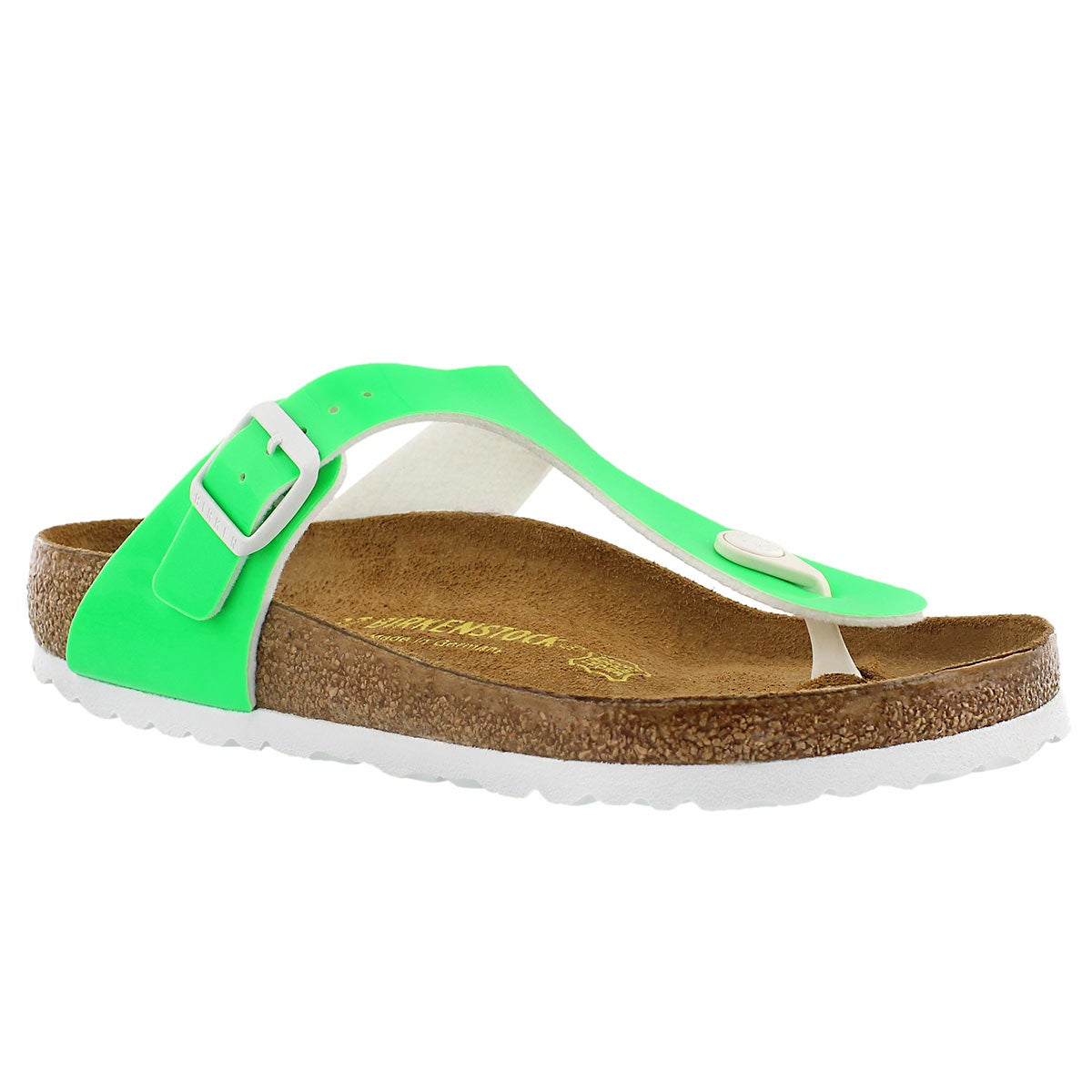 Women's GIZEH neon green thong sandals