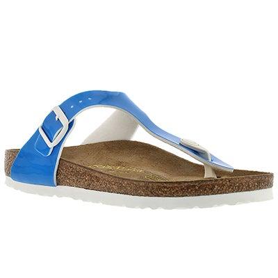 Lds Gizeh neon blue thong sandal