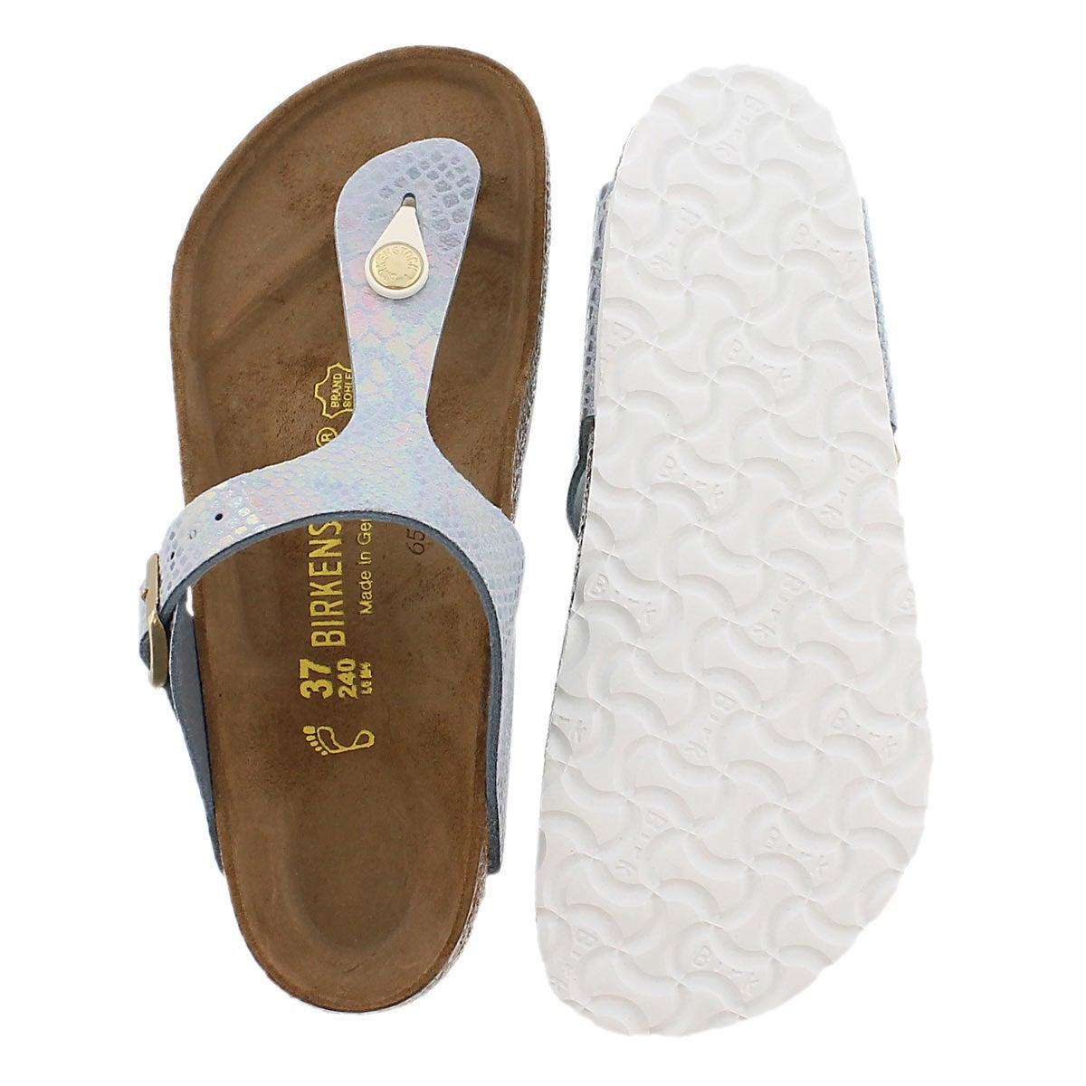 Lds Gizeh shiney snake sky thong sandal