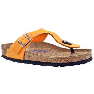 Birkenstock Women's GIZEH SF orange thong sandals