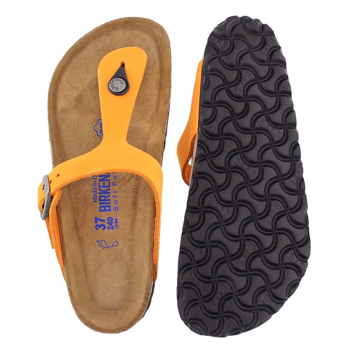 Lds Gizeh orange thong sandal - SF