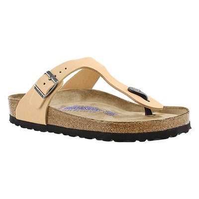 Birkenstock Tongs GIZEH SF, sable, femmes