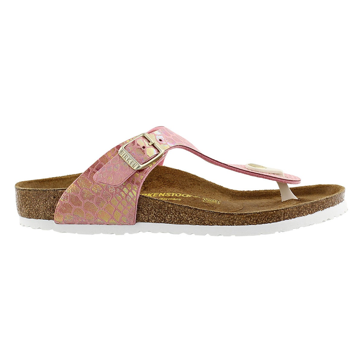 Grls Gizeh shiney snake rose sandal-Narr