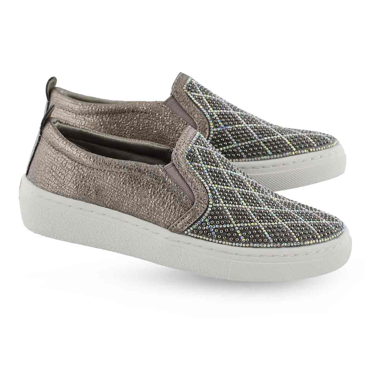 Grls Goldie Diamond Darling pwtr slip on