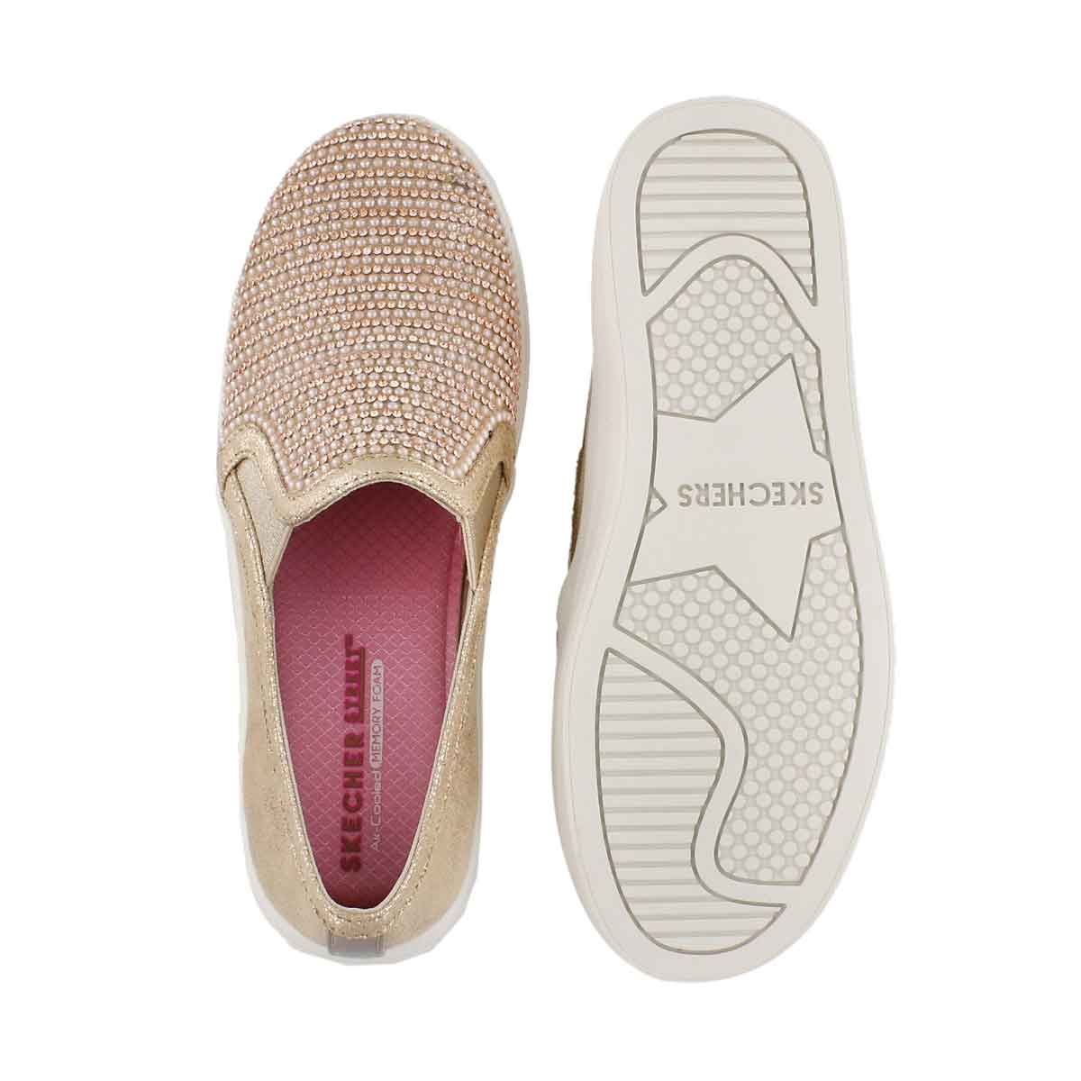 Grls DoubleUpShinyDancer rse gld slip on