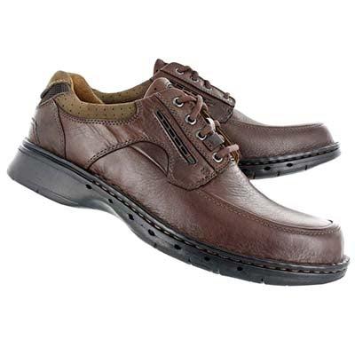 Clarks Men's UN.BEND brown casual comfort oxfords
