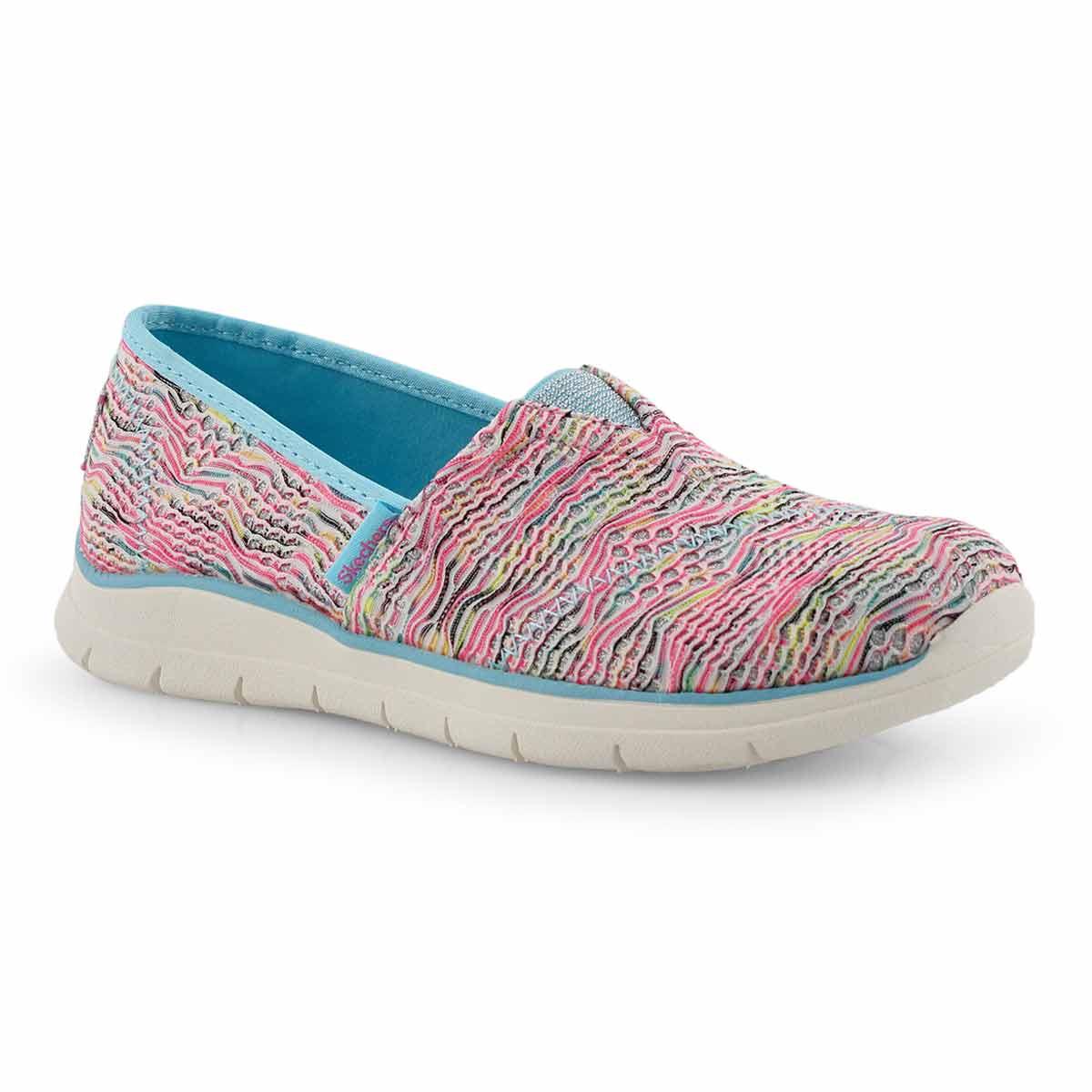 Grls Pureflex 3 turq/mlti slip on shoe