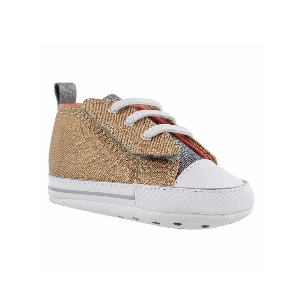Infants' CT ALL STAR pale gold sneakers