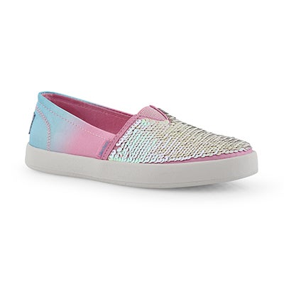 Grls B-Loved pnk/multi slip on sneaker