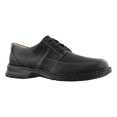 Mns Espace black oily casual oxford