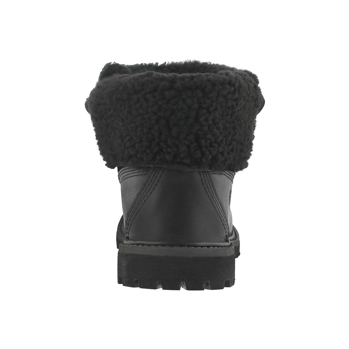 Lds Authentics Teddy blk fold down boot