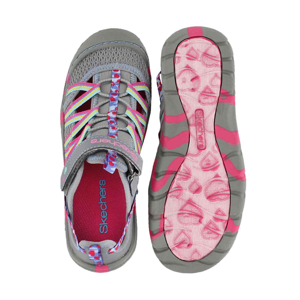 Grls Summer Steps gry/mlt sport sandal