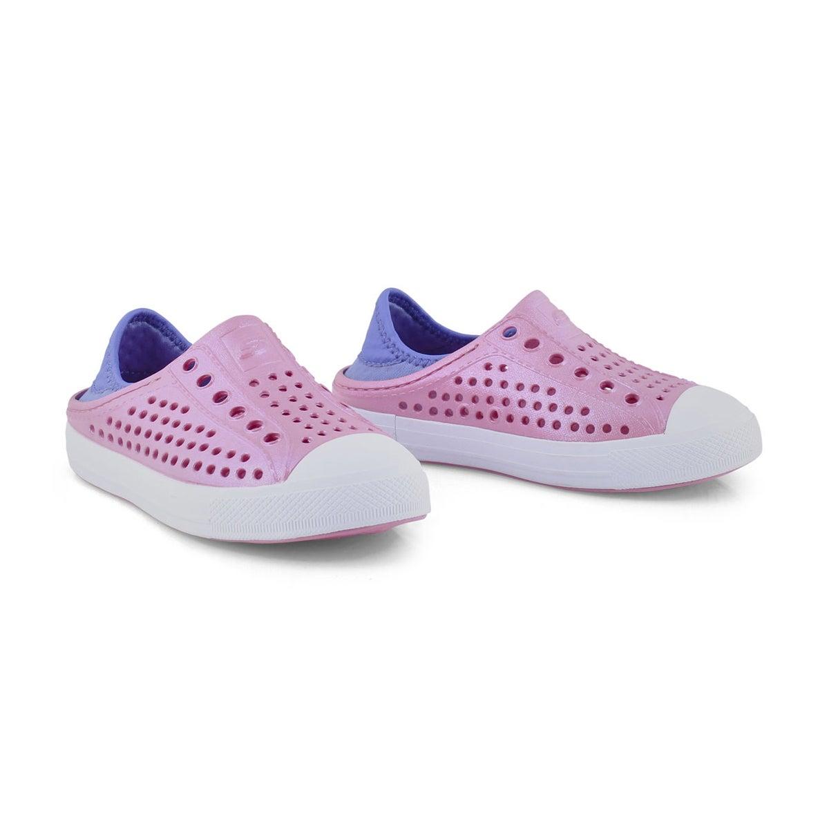 Grls Guzman Steps pnk/blue slip on shoe