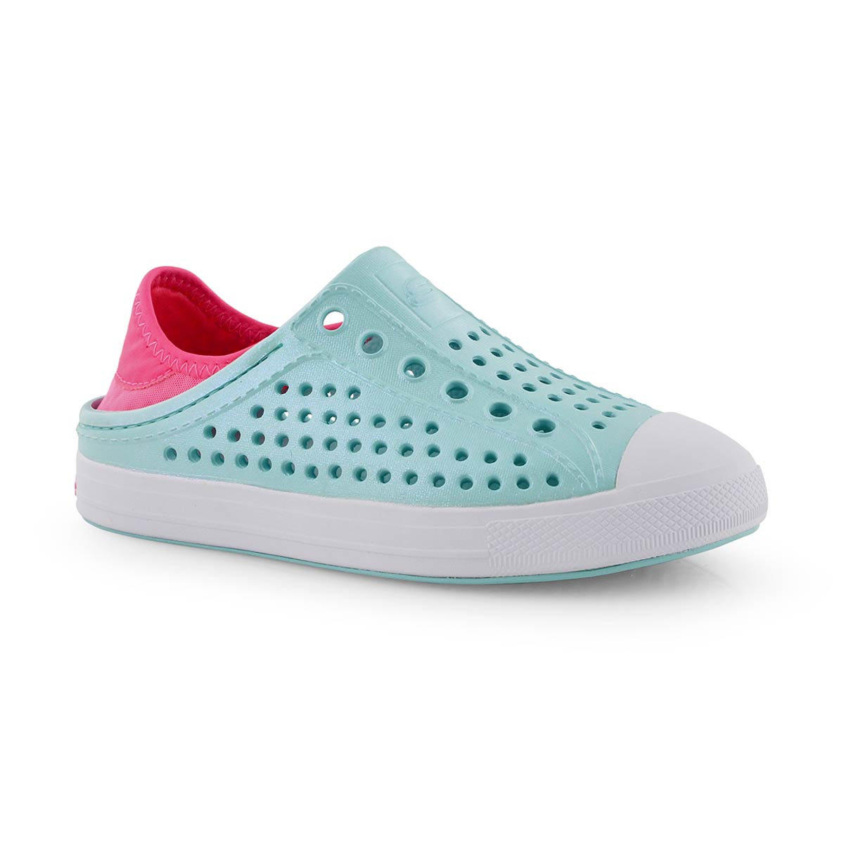 Grls Guzman Steps turq/pnk slip on shoe