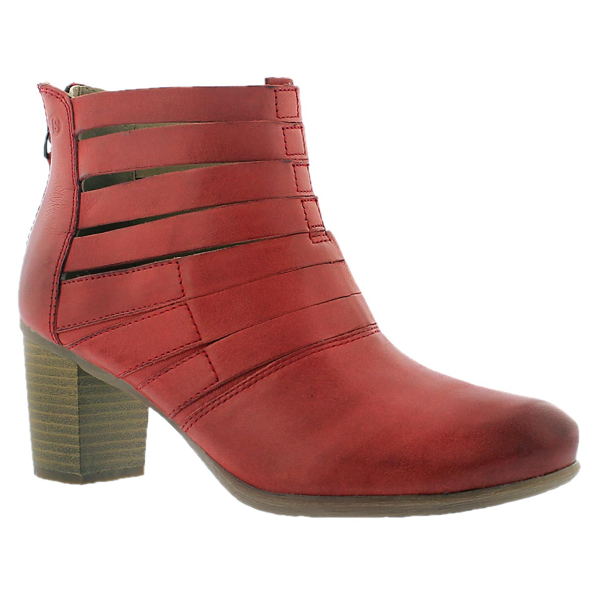 Lds Bonnie 01 red ankle boot