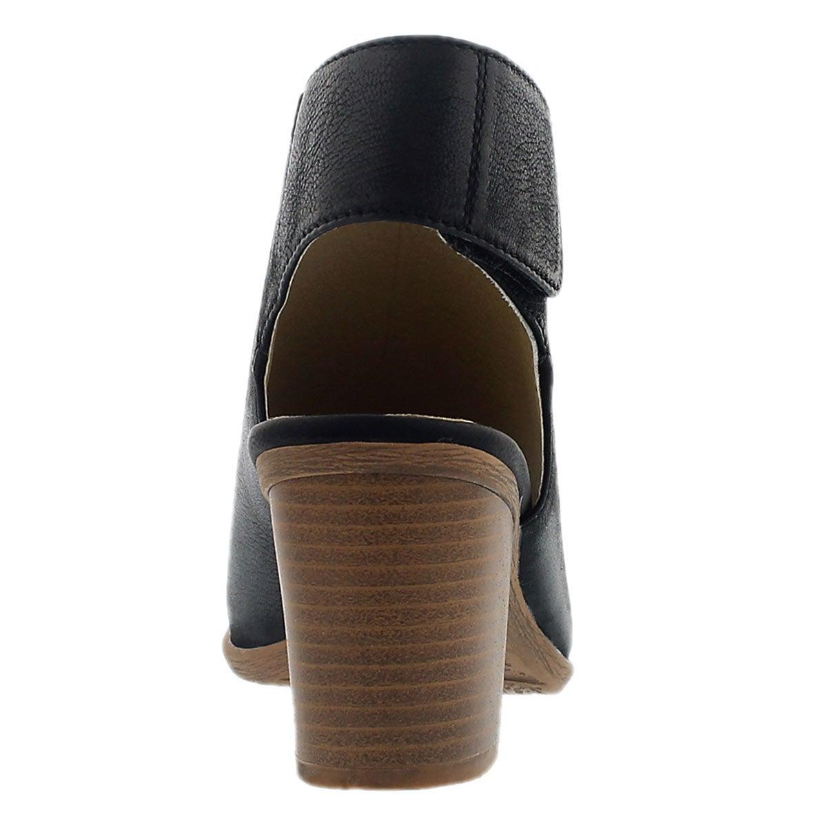 Lds Bonnie 09 black peep toe heel