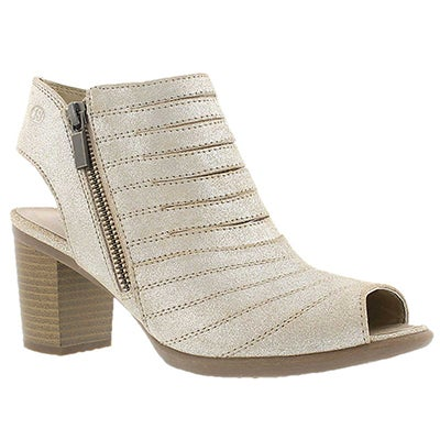Josef Seibel Women's BONNIE 15 natural cut out peep toe heels