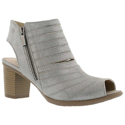 Josef Seibel Women's BONNIE 15 silver cut out peep toe heels