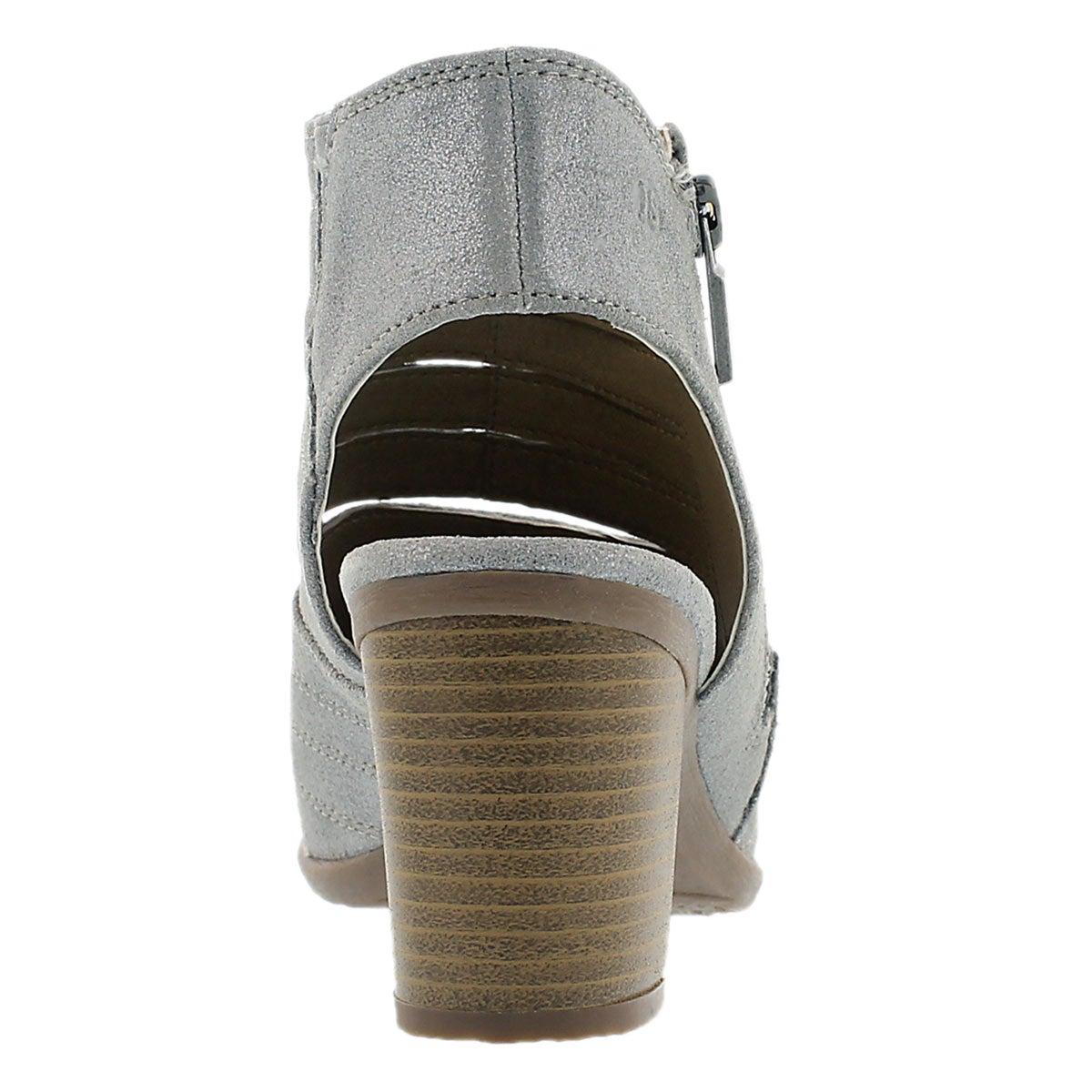 Lds Bonnie 15 silver cut out peep toe