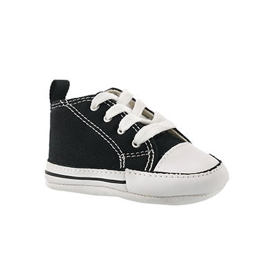 Converse Infants' ALL STAR CRIB black canvas sneakers
