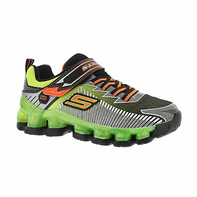 Bys Scoria blk/lime lightup running shoe