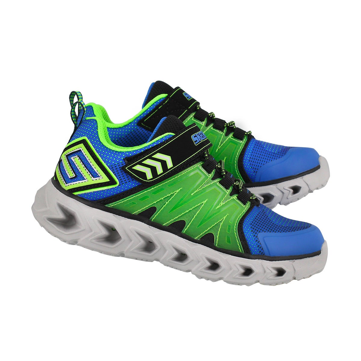 Bys HypnoFlash2.0 blu/grn light up snkr