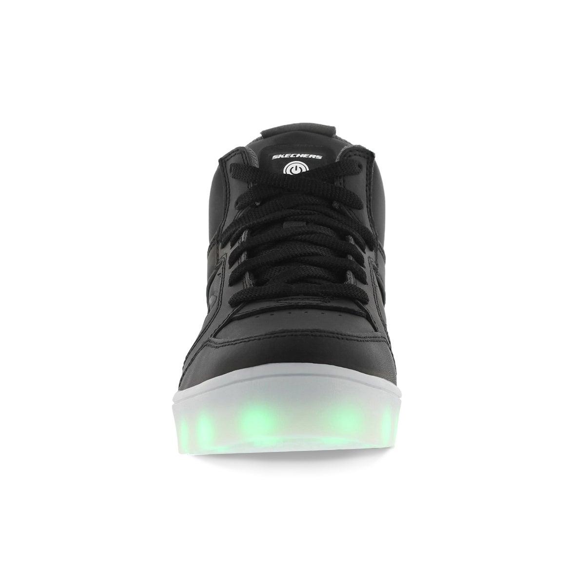 Skechers Energy Lights Boys Sneaker Hi Top Black Youth Sizes 90600l Light up 6