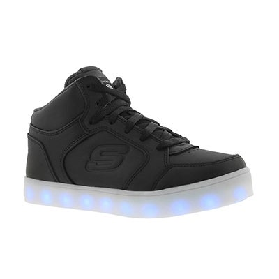 Skechers Kids' ENERGY LIGHTS light up black sneakers