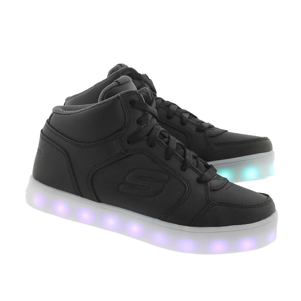Kds Energy Lights light up blk sneaker