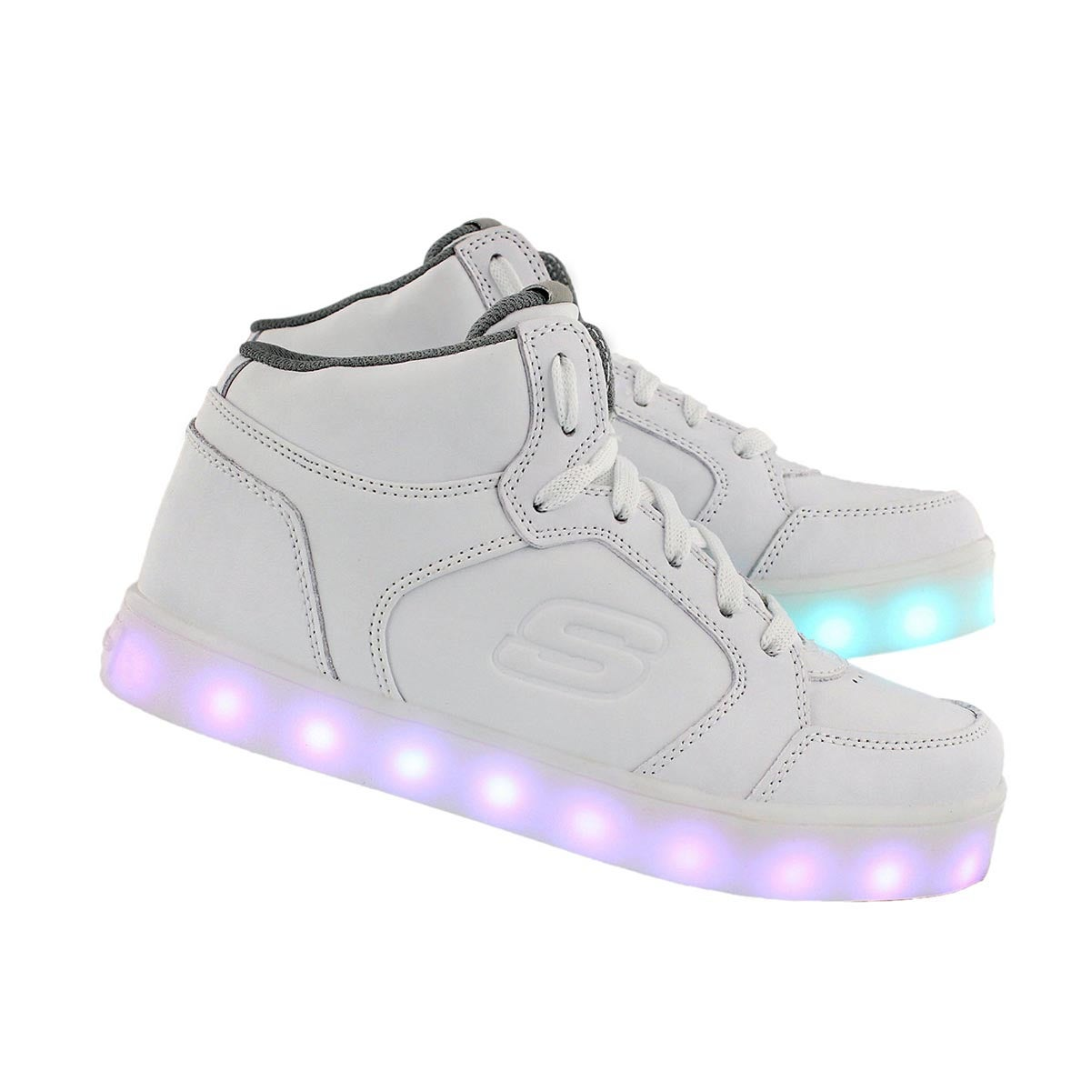 skechers shoes light up white. Kds Energy Lights Light Up Wht Sneaker Skechers Shoes White T