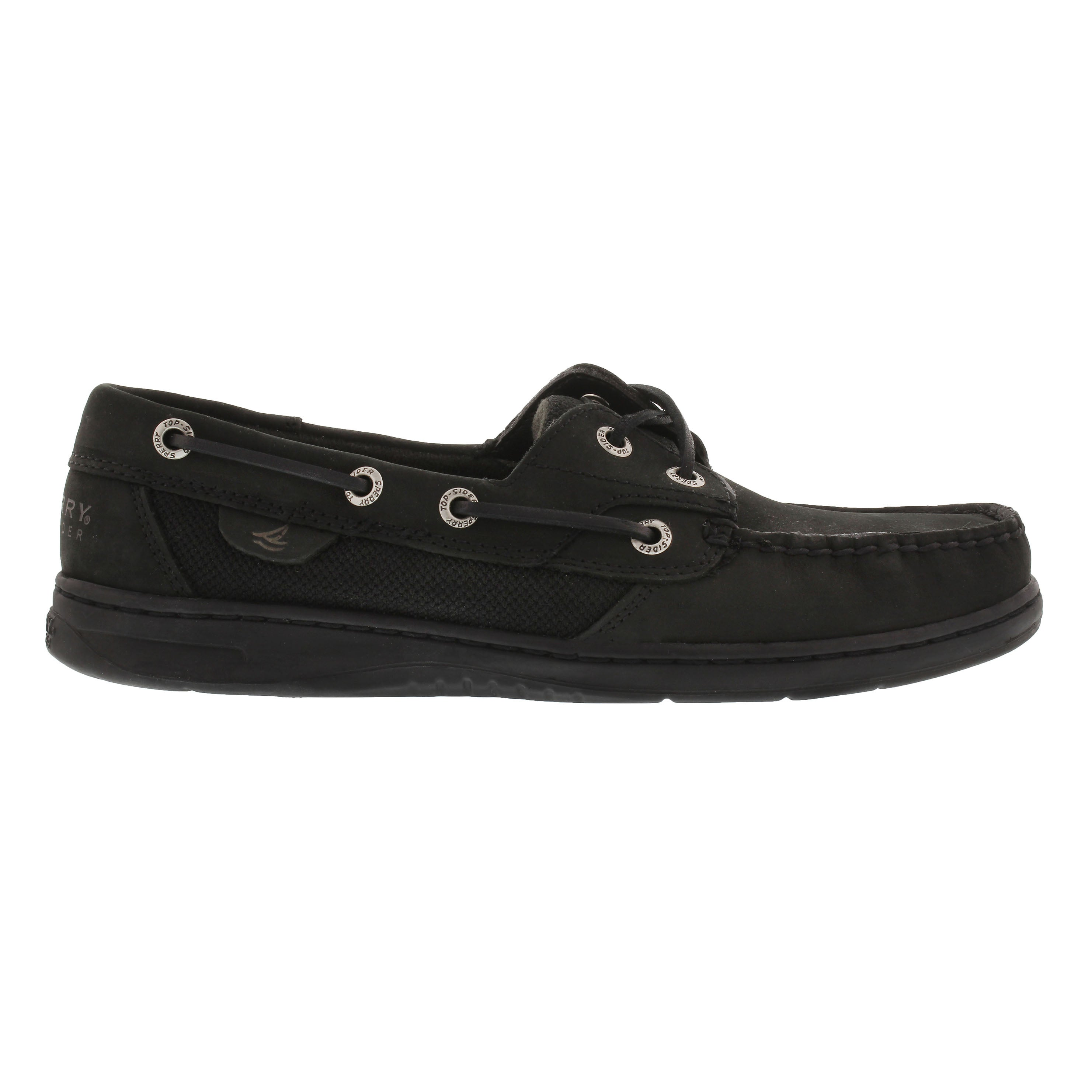 Lds Bluefish 2-eye black boat shoe
