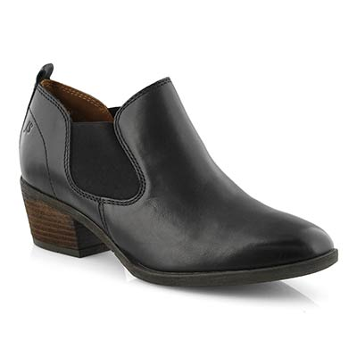 Lds Daphne 17 black slip on casual heel