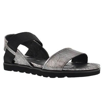 Josef Seibel Women's JOLIEN 05 silver casual comfort sandals