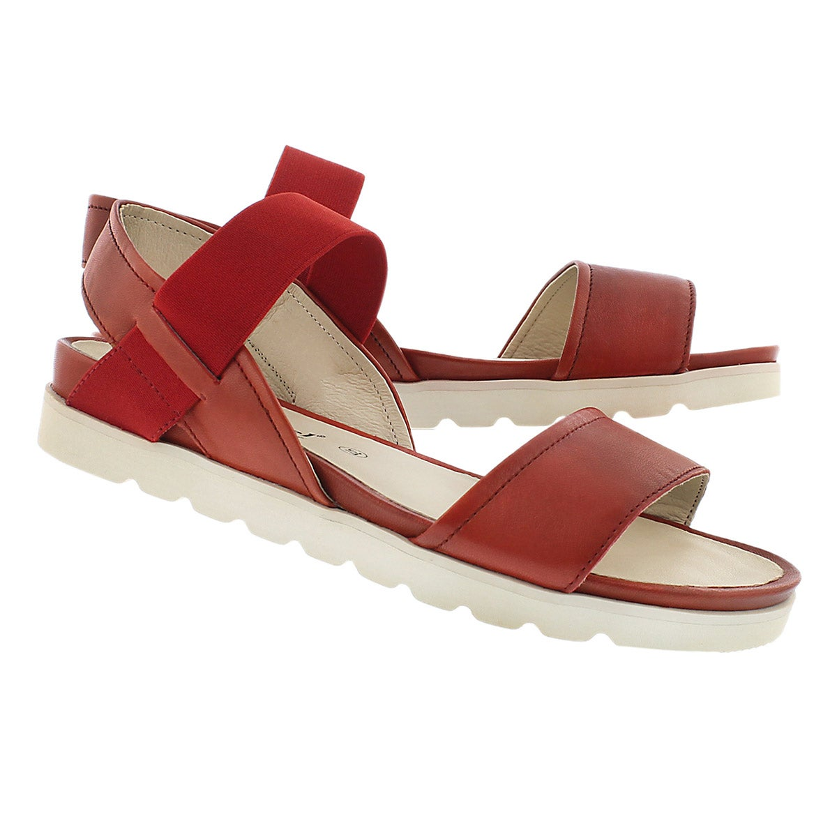 Lds Jolien 05 red casual sandal
