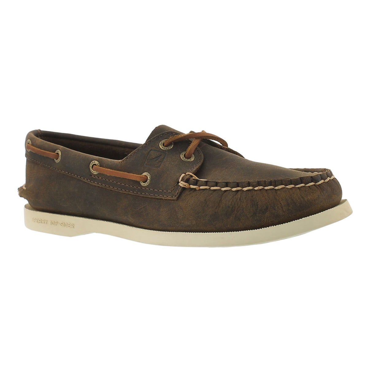 Women's AUTHENTIC ORIGINAL 2-Eye brown boat shoes