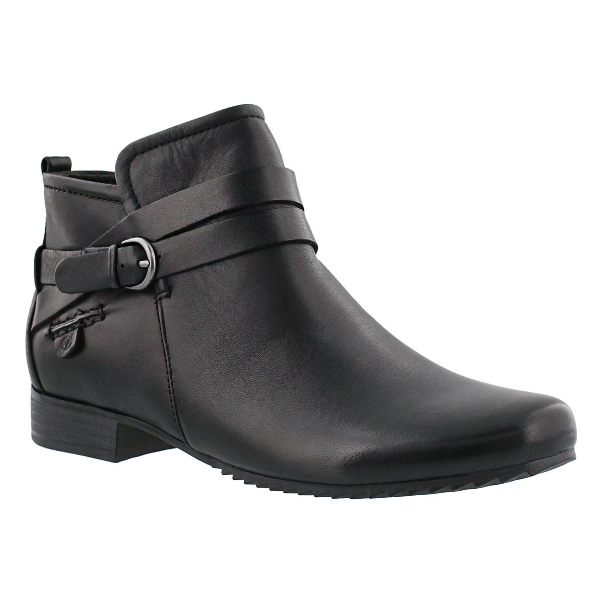 Women's SABRINA 03 black leather casual booties