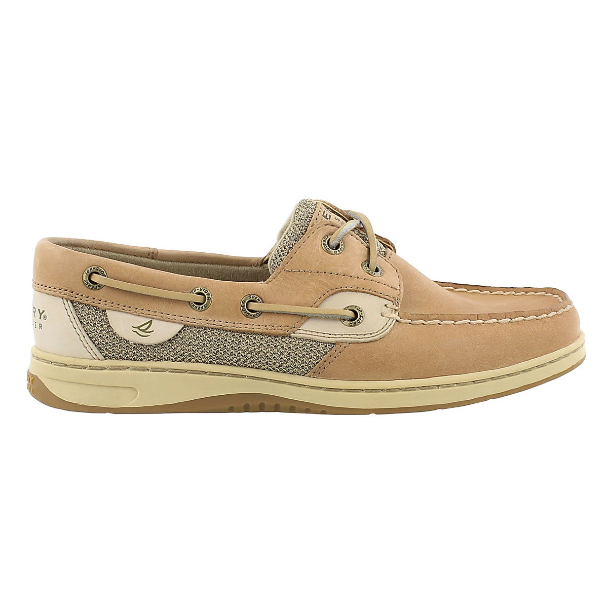 Lds BLUEFISH 2-eye linen/oat boat shoe