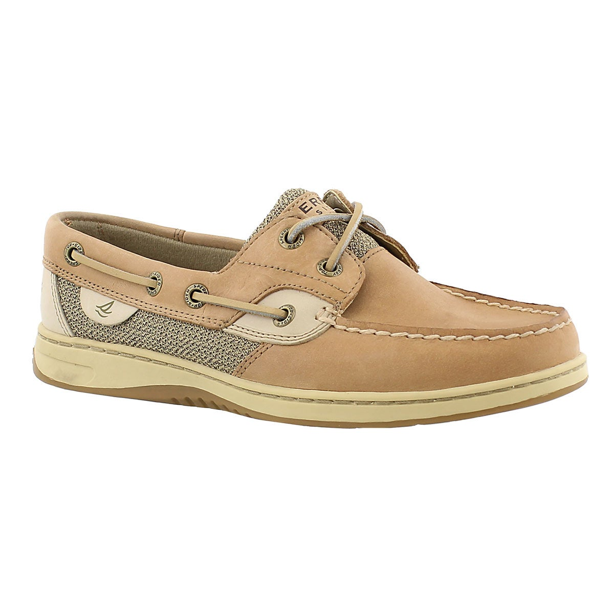 Women's BLUEFISH 2-Eye linen boat shoes - Wide