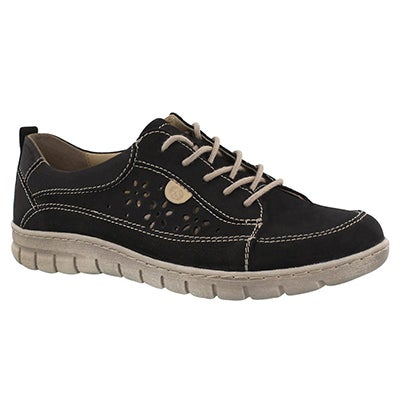 Lds Steffi 23 black lace up sneaker