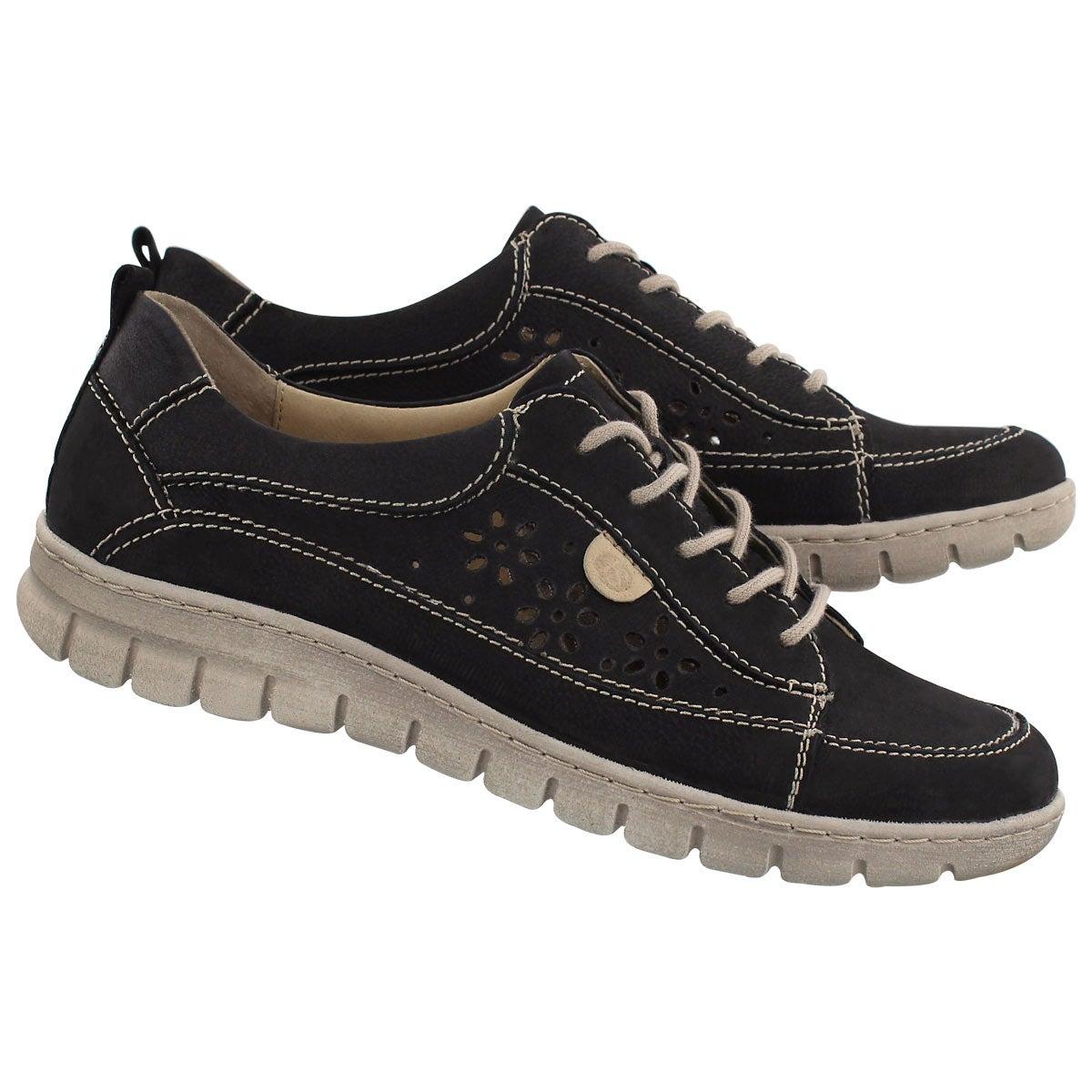 Lds Steffi 23 black lace up sneaker