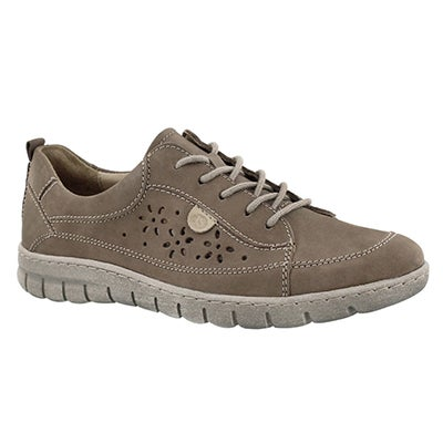 Lds Steffi 23 taupe lace up sneaker