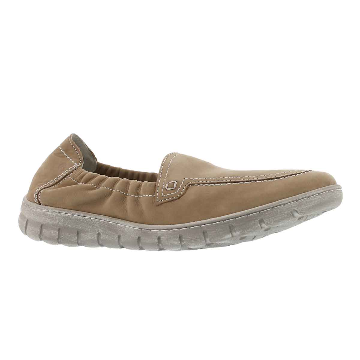 Lds Steffi 57 beige slip on shoe